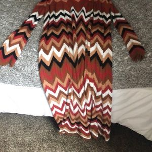 Forever 21 Sweaters - SOLD‼️Chevron longline cardigan